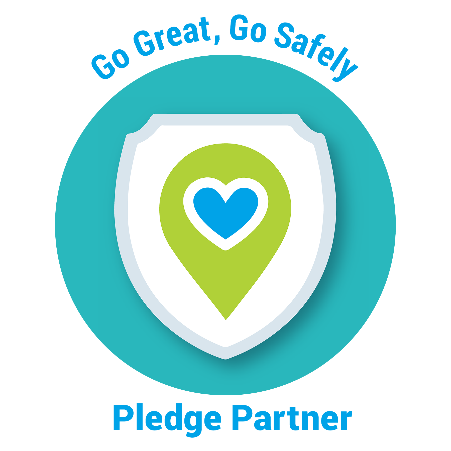 Go Safely Pledge Logo Blue